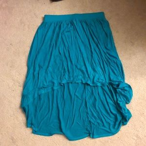 Lauren Conrad Hi-Low teal skirt